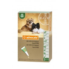 Advocate (Адвокат) - средства защиты от паразитов для собак весом до 4 кг