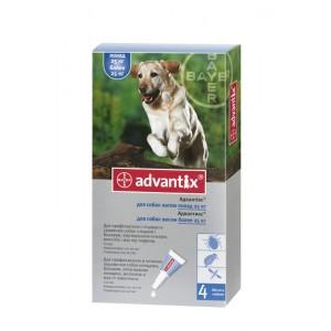 Средства защиты Bayer Advantix - Адвантикс  для собак вес более 25 кг