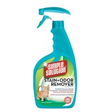 SIMPLE SOLUTION Cat Stain and Odor Remover - для удаления запахов и пятен