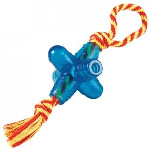 PETSTAGES Orka Jack smal w/rope • Игрушка для собак «Oрка Джек малая с канатиком»