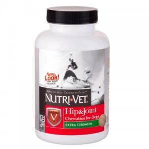 Nutri-Vet СВЯЗКИ И СУСТАВЫ ЭКСТРА (Hip&Joint Extra, 2-Level) для собак (75 таб.)