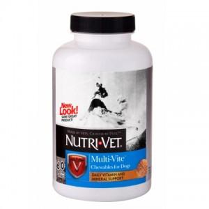 Nutri-Vet(Нутри-Вет) «МУЛЬТИ-ВИТ» комплекс витаминов и микроэлементов для собак, жевательные таблетки