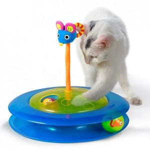 PETSTAGES Cheese Chase • Игрушка для кошек «Трек с мячиком для лакомств»