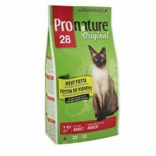 Pronature Original Adult Meat Fiesta Chicken & Salmon & Lamb - МЯСНАЯ ФИЕСТА сухой супер премиум корм для взрослых котов