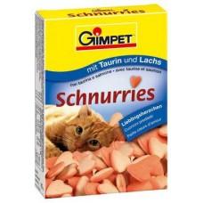 Gimcat (Джимпет) SCHNURRIES cердечки с таурином / лосось