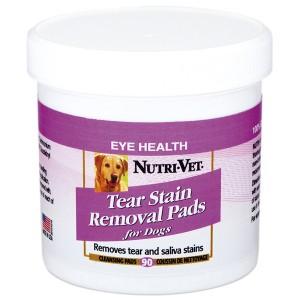 Nutri-Vet (Нутри-Вет) «ОЧИСТКА ПЯТЕН» влажные салфетки для удаления пятен от слез и слюны у собак