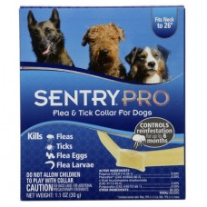 SENTRY SentryPro - ошейник для собак от блох, клещей, яиц и личинок блох