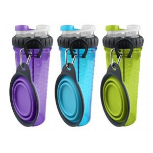 DEXAS H-DuO™ with Companion Cup - Бутылка двойная для воды со складной миской для собак и кошек