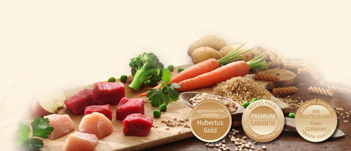 Hubertus Gold - только качественная продукция, которая является вполне естественной основой здорового питания активной собаки