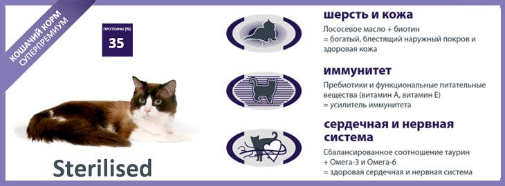 Profine (Профайн) Cat Sterilised - корм для стерилизованных кошек