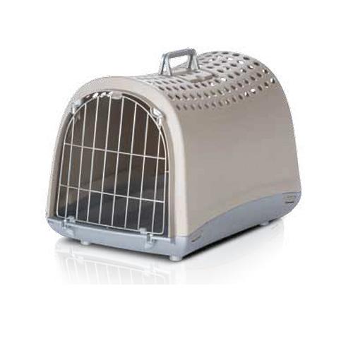 Imac ЛИНУС (LINUS) переноска для собак и кошек, пластик,светло-серый цвет