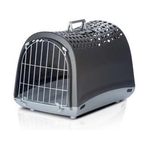 Imac ЛИНУС (LINUS) переноска для собак и кошек, пластик, темно-серый цвет