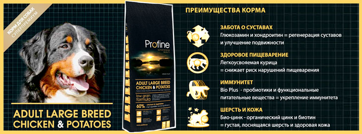 Profine (Профайн) Adult Large Breed Chicken & Potatoes - корм для собак крупных пород
