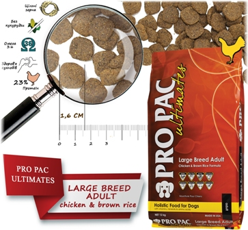 Pro Pac Ultimates Adult Large Breed Dry Dog Food - Сухой корм для собак крупных пород с курицей