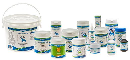 Canina pharma GmbH предлагает кормовые добавки, на основе исключительно натуральных компонентов для здоровья, полноценного развития и повышения иммунитета собак, кошек, птиц, грызунов и лошадей